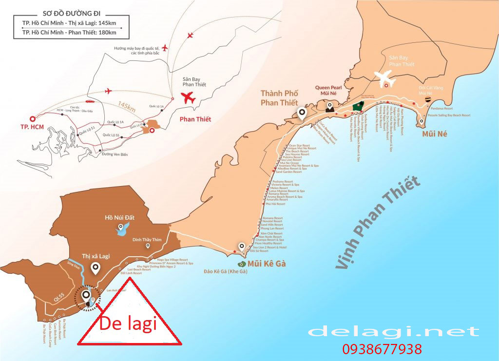 Tiện ích dự án Khu nghỉ dưỡng cao cấp De Lagi Bình Thuận